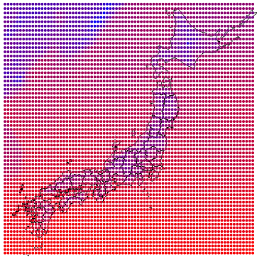 Japan temperature data with d3.js and GRIB2 files
